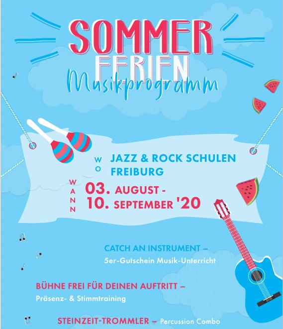 Sommerprogramm der Jazz & Rock Schulen